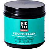 Perfect Keto Collagen Peptides Protein Powder with MCT Oil - Grassfed, GF, Multi Supplement, Best for Ketogenic Diets, Use as