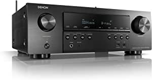 Denon AVR-S750H Receiver, 7.2 Channel (165W x 7)- 4K Ultra HD Home Theater (2019) | Music Streaming | New- eARC, 3D Dolby Surround Sound (Atmos, DTS/Virtual Height Elevation) | Alexa + HEOS, Black