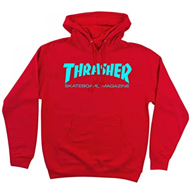 bfedd2bf4683 Thrasher Mens Skate Mag Hoodie in Red Teal M (medium)  Amazon.co.uk   Clothing