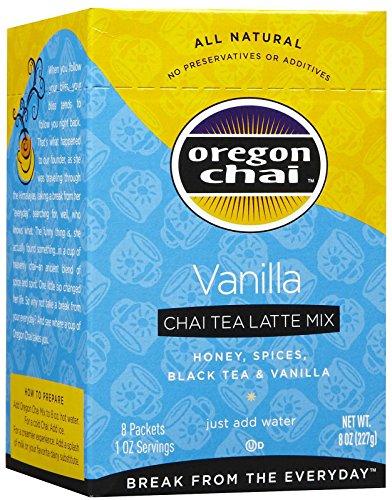 Oregon Chai Tea Vanilla - Oregon Chai Vanilla Tea Latte Mix - 8 ct
