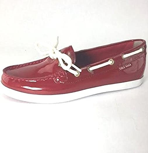 Cole Haan Women's Nantucket Camp Moccasins Red Patent 8.5