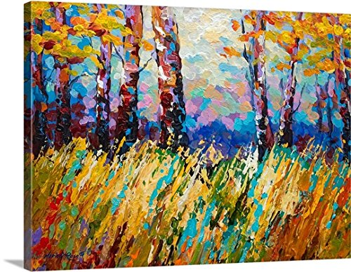 Marion Rose Premium Thick-Wrap Canvas Wall Art Print entitled Abstract Autumn