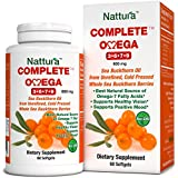 COMPLETE OMEGA 3-6-7-9 * Highest Quality, Pure Sea Buckthorn Oil From Unrefined, Cold Pressed Whole Sea Buckthorn Wild Berries - Non-GMO, Certified Kosher, cGMP (600mg) - 60 Softgels