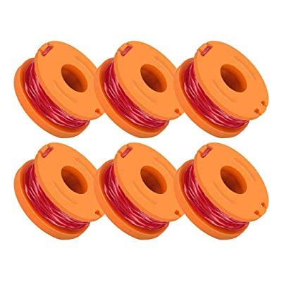 Yamart 12Pcs Replacement 10ft Trimmer/Edger Spool Compatible for Worx WA0010 Spool Line for Grass Trimmer (12-Line spools+1 Cap): Garden & Outdoor