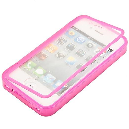 97 opinioni per kwmobile Cover in silicone per Apple iPhone 4 / 4S- Custodia Full Body Case