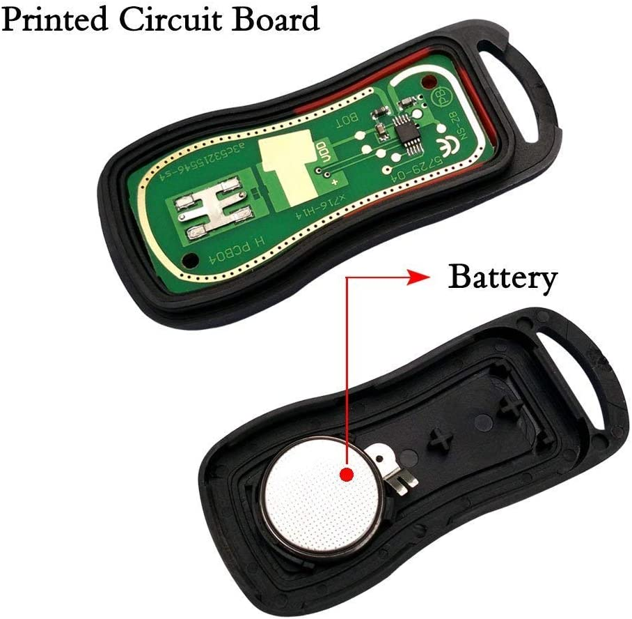 Pack of 2 Compatible for Nissan Murano Sentra Titan Key Fob BestRemotes Keyless Entry Remote Control Car Key Fob Replacement for KBRASTU15 CWTWB1U733 Key Fob