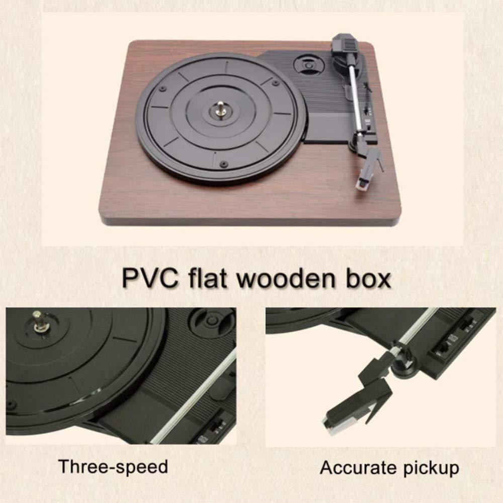 YWT Reproductor de Discos, Tocadiscos de 3 velocidades ...
