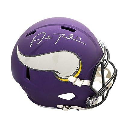 941d7c896d8 Amazon.com  Adam Thielen Autographed Minnesota Vikings Full-Size Speed  Helmet - JSA COA  Sports Collectibles