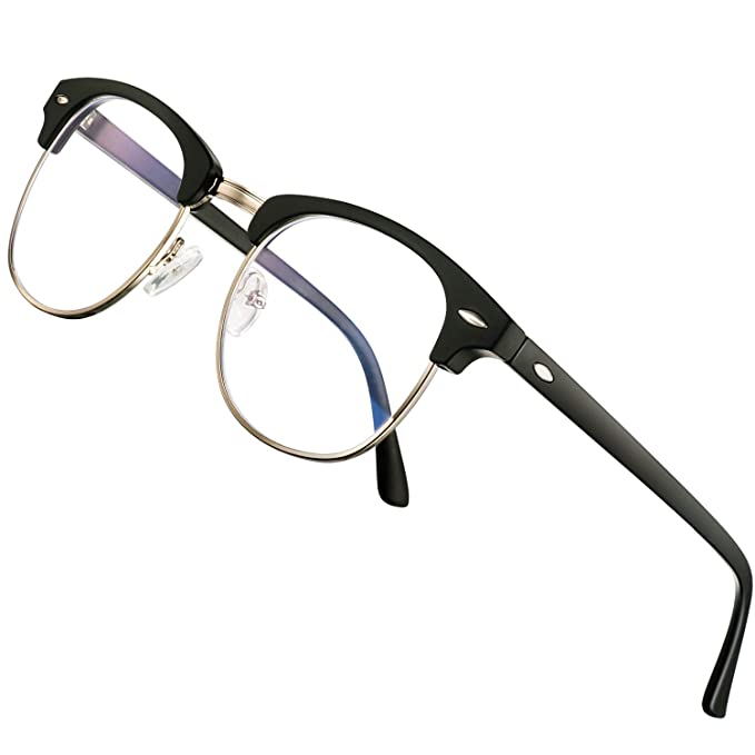 7481feedeb5a Amazon.com: blue light blocking glasses women men-FEIDU computer fake  glasses HD clear lens glasses3030: Clothing