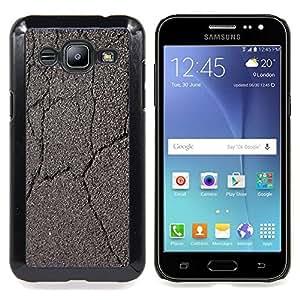 - Cracked Road Car Driving Grey/ Duro Snap en el tel????fono celular de la cubierta - Cao - For Samsung Galaxy J2