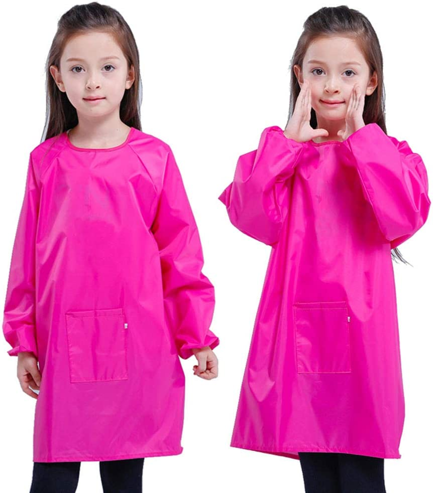 XXL for Height 110-130cm(Age 5-7 Years) Waterproof Artist Painting Aprons for Children Long Sleeve Toddler Apron EaseTech Kids Art Smocks