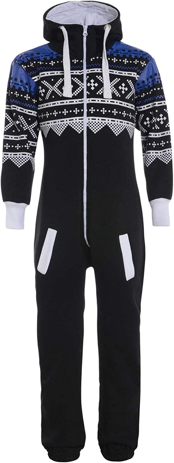 Mymixtrendz Kids Girls Boys Onesie Extra Soft Camouflage Aztec Print All in One Zip Up Hooded Tracksuit