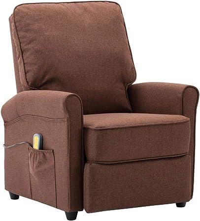 vidaXL Poltrona Massaggiante Reclinabile con Poggiapiedi 8 Zone Relax 3 Livelli Comoda Morbida Imbottita Sedia da Massaggio Crema in Similpelle