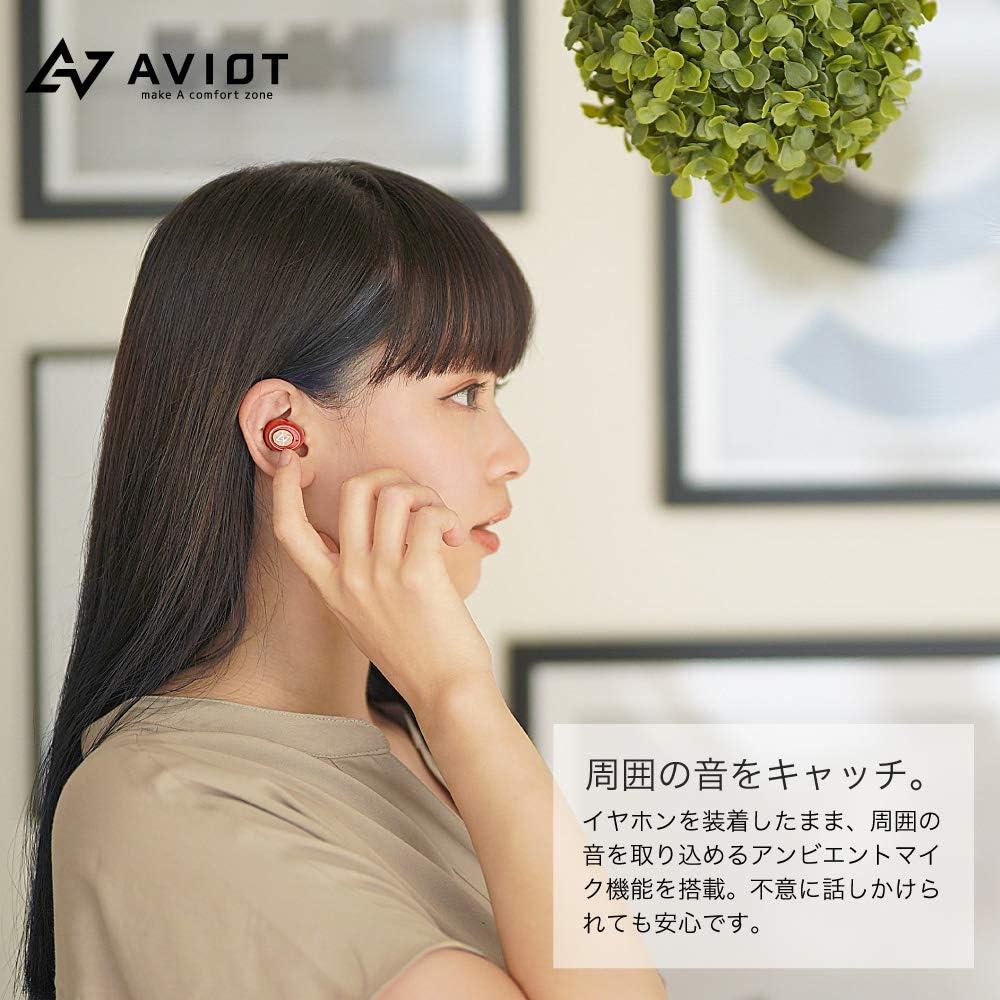 AVIOT TE-D01gv Bluetooth イヤホン ワイヤレスイヤホン iPhone Android (Ivory)