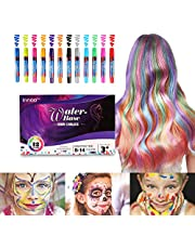 InnooCare Hair Colour for Girls - Hair Chalk Face Faint Body Paint Crayons Toys|12 Color Temporary Hair Colour Pens Non-Toxic Washable | Gifts for Women Birthday Christmas