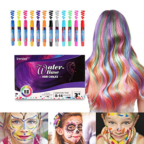 Innoo Tech Hair Chalk for Girls Gift- Face and Body Paint |12 Color...