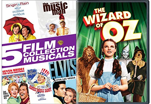 Classic Musical DVD Collection - The Wizard of Oz, Singin' In the Rain, The Music Man, Seven Brides for Seven Brothers, Yankee Doodle Dandy & Viva Las Vegas 4-DVD Set