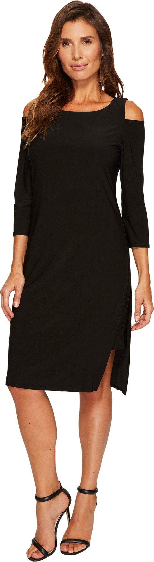 Tribal Women's Travel Pack and Go Cold Shoulder Dress Black XX-Large