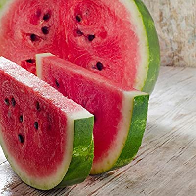 Watermelon Garden Seeds - Crimson Sweet - Non-GMO, Heirloom Vegetable Gardening Fruit Melon Seeds