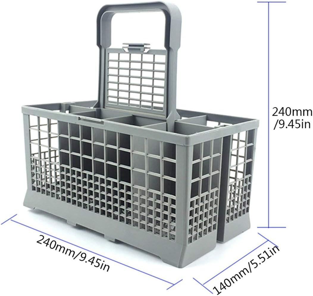 Bo/îte de Rangement Universelle carr/ée l/ég/ère et l/ég/ère pour Panier /à Couverts pour Lave-Vaisselle pour Le s/échage des Couverts de Vaisselle-Gris BCVBFGCXVB