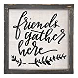 Brownlow Gifts Friends Gather Here Framed Linen Sign