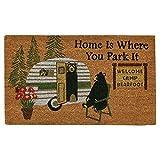 Cheap Black Forest Decor Bear Trailer Trip Doormat