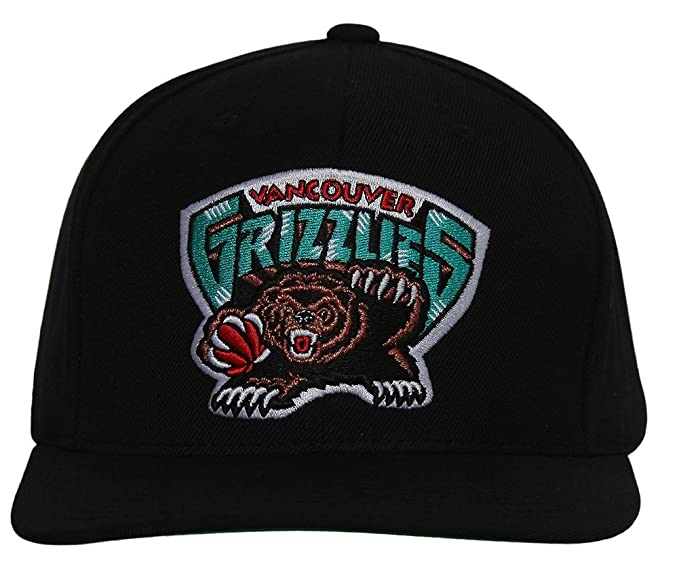 Amazon.com: Vancouver Grizzlies Mitchell & Ness Logo Snapback Cap Hat AB: Clothing