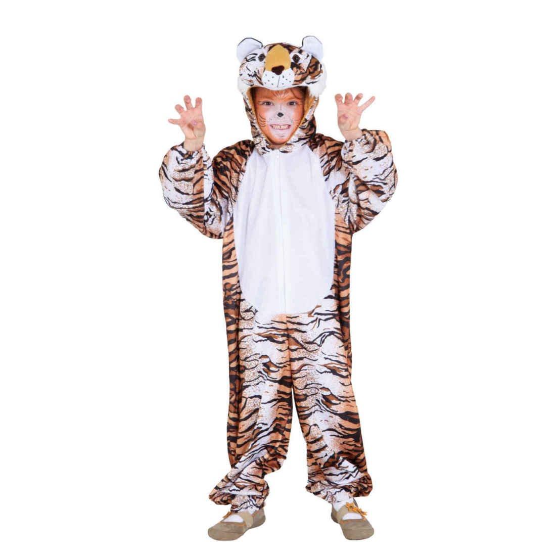 Tigerkostüm Kind Tiger Overall Wildkatze Kinderkostüm Raubkatze Katzenkostüm