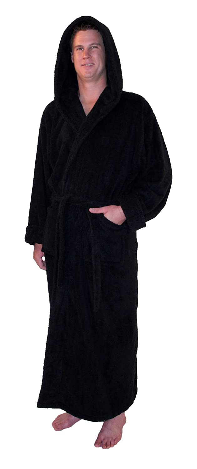 Amazon.com: Grand Blanc Men\'s Full Length Hooded Bathrobe Small ...