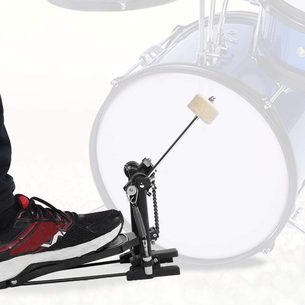 Cocoarm P/édale en alliage daluminium avec p/édale pour tambour Single Bass Noir 13,77 x 12,79 x 3,33 pouces