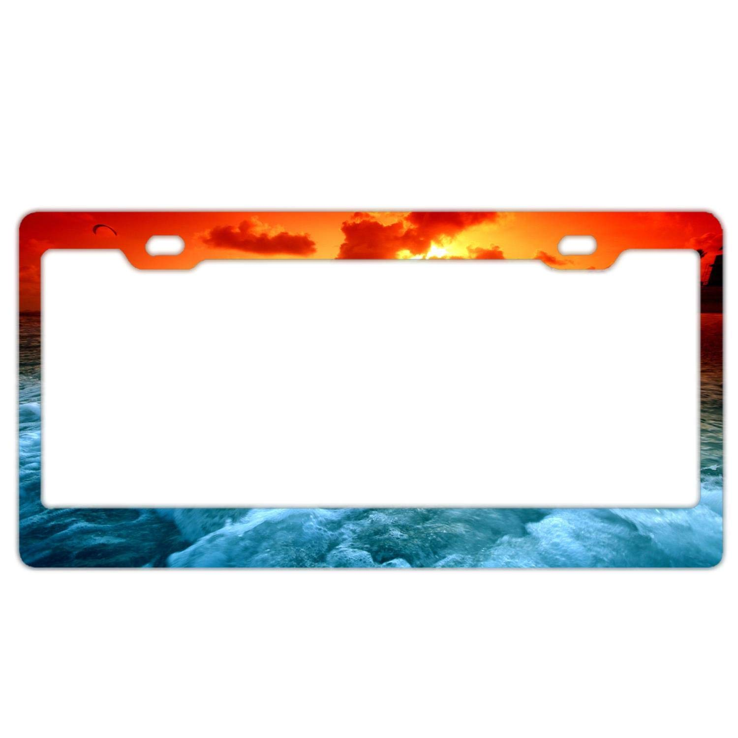 THE FLORES FAMILY FUNNY Metal License Plate Frame Tag Holder