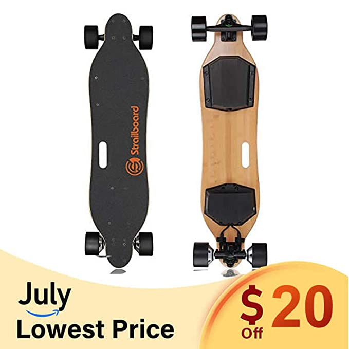 Strailboard Electric Skateboard 38 Inch Electric Skateboard with Remote for Adults - Dual Motor Wheel Off Motorized Electric Longboard