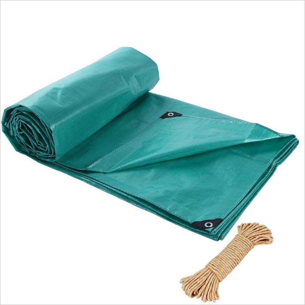 PENGFEI ターポリン 防水 雨布 植物 日焼け止め 防塵の 防風 貨物トラック 杼口 布 シェード 霜の保護 抗酸化、 緑、 13サイズ ( サイズ さいず : 5 x 6m ) 5 x 6m  B07CCZHTH7