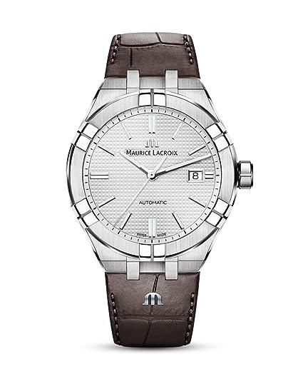 Reloj Automático Maurice Lacroix Aikon Gents, 42 mm, Plata, AI6008-SS001-130-1: Amazon.es: Relojes