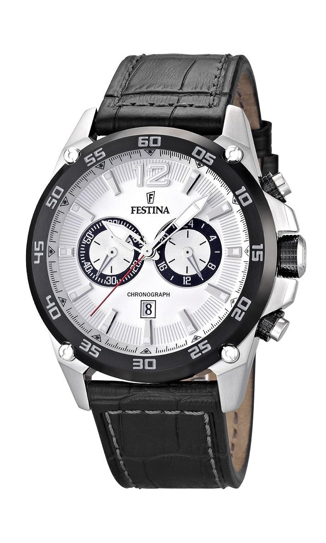 Festina Herren-Armbanduhr XL Chronograph Quarz Leder F16673-1