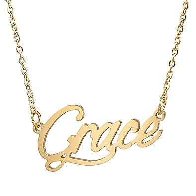 Amazon aoloshow lovely initial pendant name necklace for girls aoloshow lovely initial pendant name necklace for girls grace aloadofball Choice Image