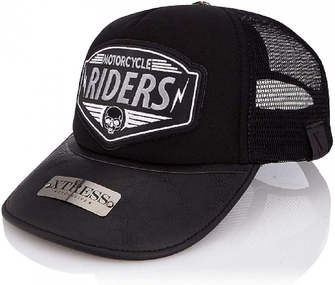 Xtress Exclusive Gorra negra con logo RIDERS. Unisex: Amazon.es ...