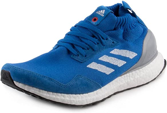 Adidas Mens Ultra Boost Mid Blue Fabric Running