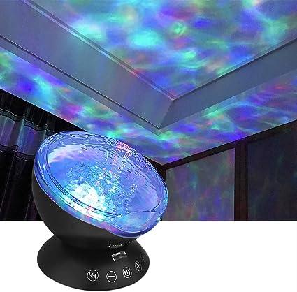 Aurora Borealis noche proyector de luz con altavoz de música sueño ...