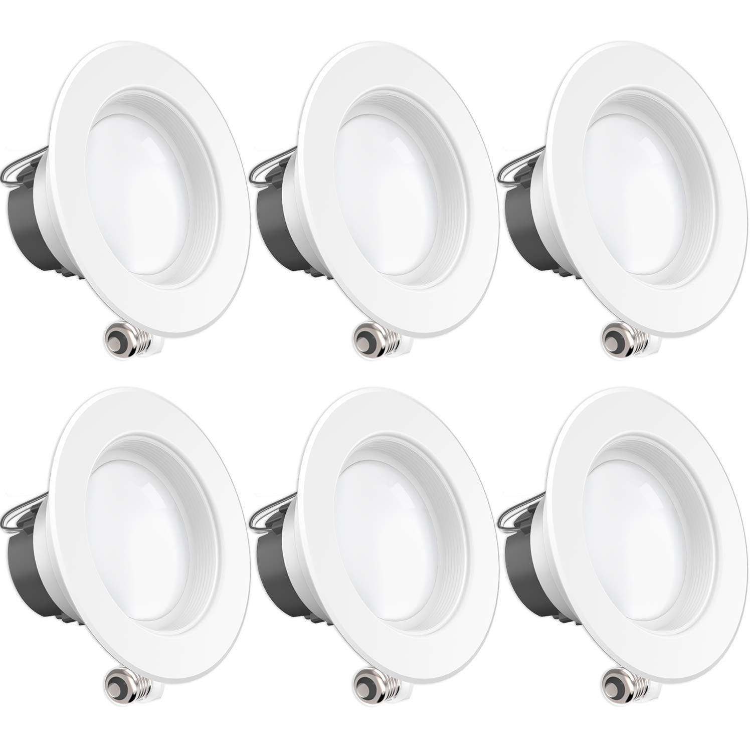 Sunco Lighting 6 Pack 4 Inch LED Recessed Downlight, Baffle Trim, Dimmable, 11W=40W, 2700K Soft White, 660 LM, Damp Rated, Simple Retrofit Installation - UL + Energy Star
