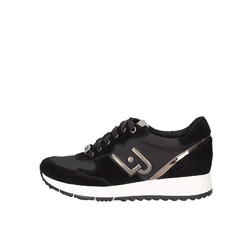 70c42e814e752 Scarpe Donna Sneakers Liu Jo Gigi 02 Running Cow Suede Nylon Black Nere  Nuove  Amazon.it  Scarpe e borse