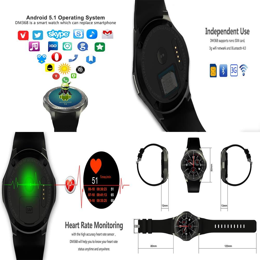 LWPCP Reloj Inteligente, Pantalla AMOLED de 1.39 Pulgadas ...