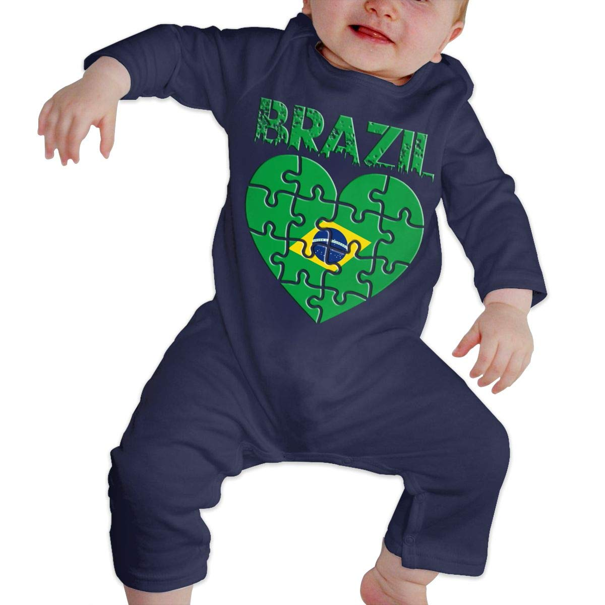 Baby Girl Long Sleeve Jumpsuit Made in Brazil Infant Long Sleeve Romper Jumpsuit
