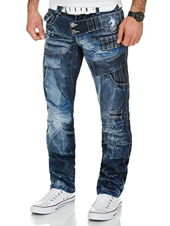 Kosmo Lupo Herren Jeans Denim Hose Japan Style Blau  Amazon.de  Bekleidung ba9573006a