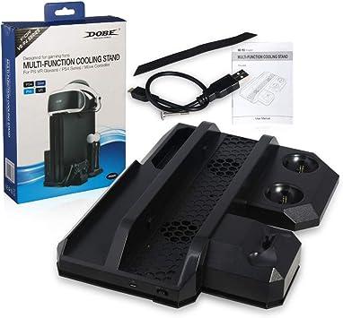 OUYAWEI PS4/PS4 Pro/PS4 Slim Playstation VR Stand Vertical Controlador Soporte de Carga con Ventilador de refrigeración para Sony PS4 Accesorios electrónicos: Amazon.es: Electrónica