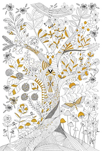 Tree of Life Gold Foil Coloring Poster (Studio Series)