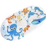 Non Slip Baby Bath Mat Anti Slip Kids Shower Mat Children Bathtub Mat Environmentally Friendly PVC 69 x 39 cm (octopus)