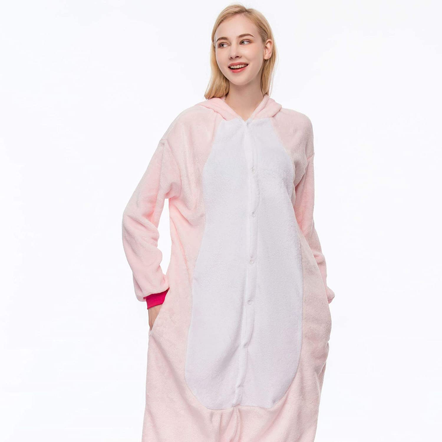 H Couple Pajamas Conjoined Sleepwear Thick Coral Flannel Nightgown Sleep Set Long,A,M