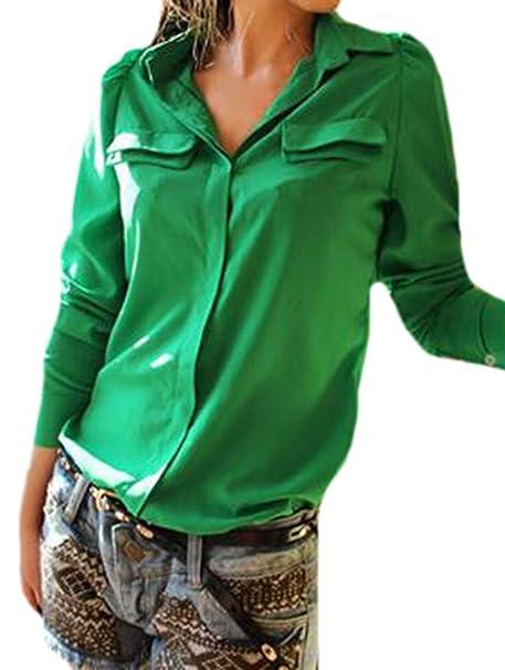 ouliu mujeres moda coreano Slim Fit cuello bolero blusas