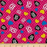 1D Guitar Picks-Dots Hot Pink Fabric By The Yard